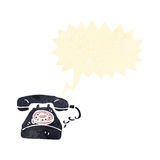 Retro cartoon telephone ringing Stock Image
