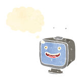 retro cartoon television set Stock Images