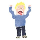 Retro cartoon terrified man Royalty Free Stock Images