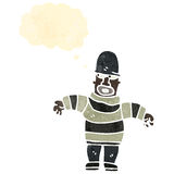 Retro cartoon thief Royalty Free Stock Photo