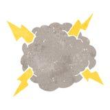 Retro cartoon thundercloud Royalty Free Stock Image