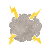Retro cartoon thundercloud Stock Image