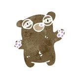 Retro cartoon tired little bear Stock Photos