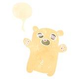 Retro cartoon tired little polar bear Stock Image