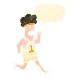 Retro cartoon tired runner Stock Photo