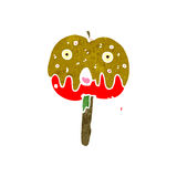 Retro cartoon toffee apple Royalty Free Stock Photo