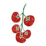 retro cartoon tomatoes Stock Image
