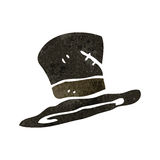 retro cartoon top hat Royalty Free Stock Photo