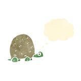 Retro cartoon tortoise. Retro cartoon with texture. Isolated on White Royalty Free Stock Image