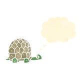 Retro cartoon tortoise. Retro cartoon with texture. Isolated on White Royalty Free Stock Images