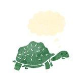 Retro cartoon tortoise. Retro cartoon with texture. Isolated on White Royalty Free Stock Photo