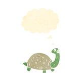 Retro cartoon tortoise. Retro cartoon with texture. Isolated on White Stock Image