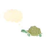 Retro cartoon tortoise. Retro cartoon with texture. Isolated on White Stock Images