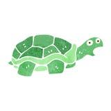 Retro cartoon tortoise. Retro cartoon illustration. On plain white background Royalty Free Stock Images