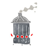 Retro cartoon trash burner Royalty Free Stock Images