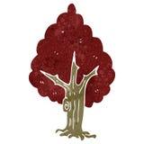 Retro cartoon tree Stock Photo