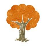 Retro cartoon tree Stock Photography