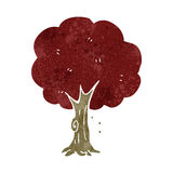 Retro cartoon tree Stock Images