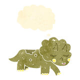 Retro cartoon triceratops Stock Image