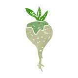Retro cartoon turnip Royalty Free Stock Images