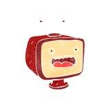 Retro cartoon TV set. Retro cartoon illustration. On plain white background Stock Photography