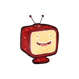 Retro cartoon TV set Royalty Free Stock Images