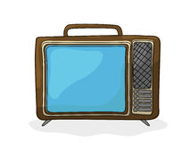 Retro cartoon  tv. Retro style tv drawing over white background Stock Images