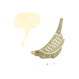 Retro cartoon tweeting bird Royalty Free Stock Photography
