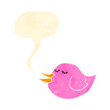 Retro cartoon tweeting bird Stock Image