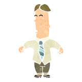 retro cartoon ugly businessman Stock Images