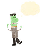 Retro cartoon undead monster Stock Images