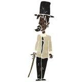 Retro cartoon untidy gentleman. Retro cartoon illustration. On plain white background Royalty Free Stock Images