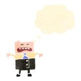Retro cartoon upset office man Royalty Free Stock Image