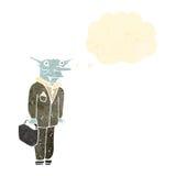 Retro cartoon vampire lawyer. Retro cartoon with texture. Isolated on White Stock Image