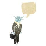 Retro cartoon vampire lawyer. Retro cartoon with texture. Isolated on White Stock Photography