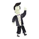Retro cartoon vampire man Stock Photos