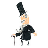 Retro cartoon victorian gentleman Royalty Free Stock Photos