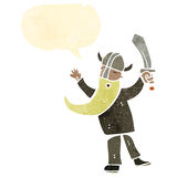 Retro cartoon viking warrior Stock Image