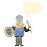 Retro cartoon viking warrior Royalty Free Stock Photo