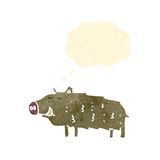Retro cartoon warthog Stock Images
