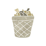 Retro cartoon waste paper basket Royalty Free Stock Photo