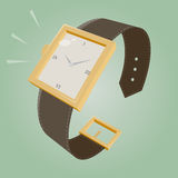 Retro cartoon watch Stock Images