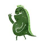Retro cartoon waving swamp monster Royalty Free Stock Photo