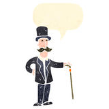 Retro cartoon wealthy gentleman Royalty Free Stock Images