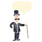 Retro cartoon wealthy gentleman Royalty Free Stock Images