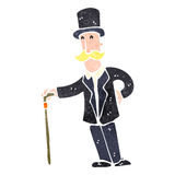 Retro cartoon wealthy man Royalty Free Stock Photography