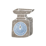 retro cartoon weighing scales Stock Photography