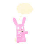 Retro cartoon weird rabbit, Royalty Free Stock Images