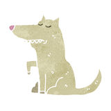 Retro cartoon well behaved dog Stock Photos