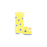 Retro cartoon wellington boot Royalty Free Stock Image